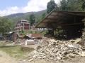 Foto dell'area dopo il sisma del 25 aprile scorso